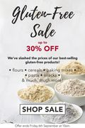 Up to 30% off in Our BIGGEST EVER Gluten-Free Sale!
