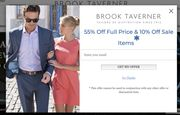 BROOK TAVERNER 55% off Full Price Items & 10% off Clearance Items