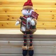 Covermason Christmas Decorations Santa Claus Sitting Porcelain Snowman