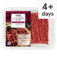 Tesco Beef Lean Steak Mince 500G 5% Fat`