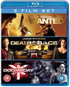 Wanted/Death Race/Doomsday Box Set Blu-Ray £3.14 Delivered W/code at Zoom