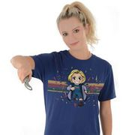 Doctor Who: T-Shirt: 13th Doctor Kawaii Rainbow