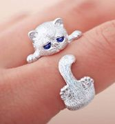 Cat Ring Cute Animal Shape Opening Jewellery Accessories Free Delivery