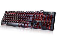 Lightning Deal 3 Color LED Backlit Mechanical Feeling Gaming Keyboard