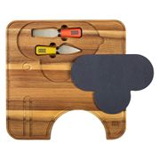 *SAVE £15* Orla Kiely Ela Elephant Cheese Board with Knives