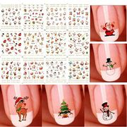 Christmas 12 Pieces 3D Nail Art Stickers