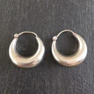 925 Sterling Silver Hoop Earrings - Chunky Tribal Gypsy Hippie