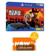 500GB PLAYSTATION 4 with RED DEAD REDEMPTION 2 and NOW TV Only £249