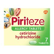 Piriteze Antihistamine Allergy Relief Tablets, Cetrizine 7s