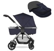 Diono Quantum Pushchair-Navy (Includes FREE Footmuff worth £85!)