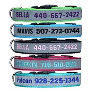 TaiHong Personalised Dog Collar, Custom Dog Collar with Embroidered ID Pet Name