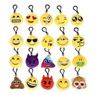 Cusfull Mini Emoji Keychain Lovely Emoji Plush Pillows Emoticon Key Ring