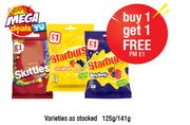 Skittles Fruit Bag, Starburst Original, Very Berry , Buy One Get One Free