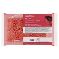 Waitrose Aberdeen Angus Beef Mince, 15% Fat400g