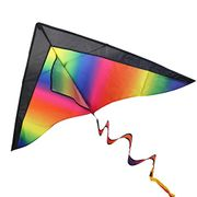 BESTOYARD Rainbow Kite for Kids and Adults Easy Flyer Kite for Outdoor Games