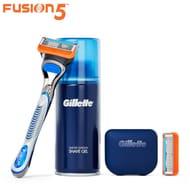 Gillette Razor Starter Kit Inc. 2 Blades, Shaving Gel, Travel Case