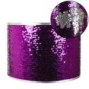 Modern Designer Shiny Purple and Silver Sequin Easy Fit Pendant Light Shade