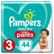 Pampers Baby Dry Pants Size 3 - 44 Nappies