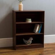 Vida Designs Cambridge 3 Tier Low Bookcase