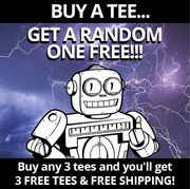 Buy a Qwertee T Shirt and Get a Free Random T Shirt