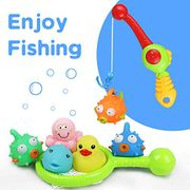 Baby Bath Toys Set Bath-Time Fishing Playing Game BathtubBathing Toys