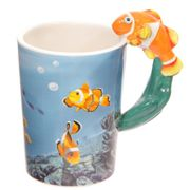 Lisa Parker Clown Fish Handle Ceramic Mug in Matching Gift Box