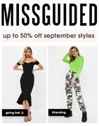 MISSGUIDED - up to 50% off September Styles