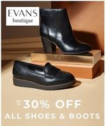 Up to 30% off ALL SHOES & BOOTS at EVANS