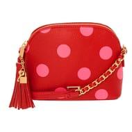 Polka Dot Crossbody Bag - Red