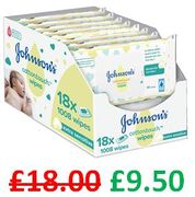 ALMOST 1/2 PRICE! JOHNSON'S Cottontouch Wipes. 1008 Wipes. save £8.50
