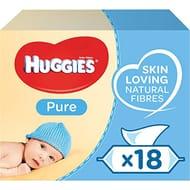 SAVE £7 - Huggies Pure Baby Wipes, 18 Packs (1008 Wipes)