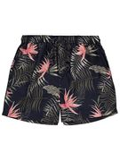 Men's Navy Tropical Print Swim Shorts - HALF PRICE: Save £4
