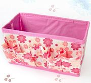 Folding Multifunction Make up Cosmetic Storage Box Stuff Container Bag Case,pink