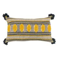 Mellow Yellow Tassel Cushion at Myakka Down From £39 to £19