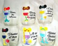 Princess Inspired Stemless Wine Glasses