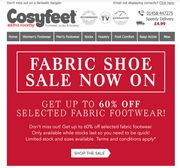 Fabric Shoe Sale .... up to 60% Off
