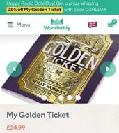 25% off My Golden Ticket Book