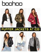 BOOHOO - 70+ Puffer Jackets from £20