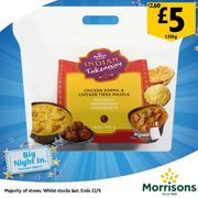Morrisons Indian or Chinese Takeaway for 2 People
