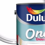 Dulux Once Gloss Paint - Pure Brilliant White 1.25 Litre