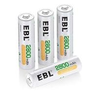EBL High Capacity 2800mAh AA Rechargeable Bat