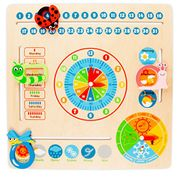 Milly and Ted Educational Wooden Calendar and Clock