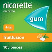 Best Ever Price! Nicorette Fruit Fusion Chewing Gum, 4 Mg, 105 Pieces