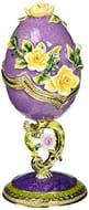 Design Toscano Spring Bouquet Collection Romanov Style Enameled Egg