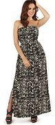 Dazzling Aztec Print Lightweight Strapless Bandeau Maxi Dress FREE DELIVERY
