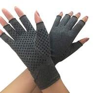 Pair Unisex Arthritis Gloves, Fingerless Therapeutic Compression Pain Relief
