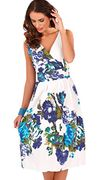 Ladies 100% Cotton Strappy Sleeveless Summer Sun Dress