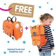 Best price! Trunki Tipu Tiger Ride on Case (Free Tipu Toddlepak Backpack)