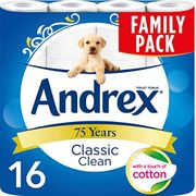 16 Andrex Classic Clean Toilet Rolls - 41p a Roll (Amazon Pantry)