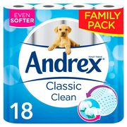 Andrex Toilet Roll 18 Pack for £6.50